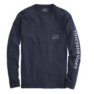 Vineyard Vines Long Sleeve Whale Pocket T-shirt L